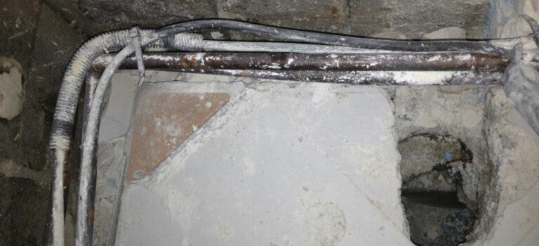 Réparation canalisation cassée